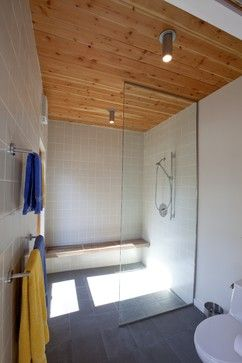 Modern Home Doorless Shower Design Ideas, Pictures, Remodel, and Decor - page 5