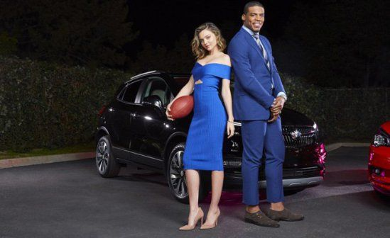 Model #Style: Miranda Kerr shot a Buick Super Bowl ad with Cam Newton