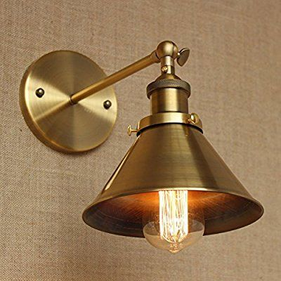 FSLiving 工業用ウォールライトスチームパンクランプ産業壁取り付け用燭台マシン年齢ランプ産業照明カフェライト (bronze)