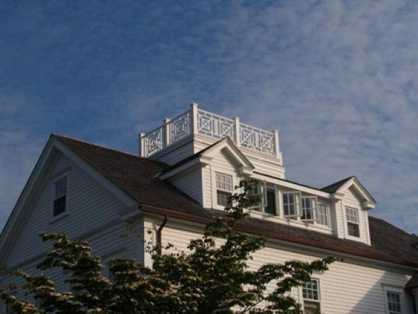 """Architect Katie Hutchison shares a """"Design snapshot"""" of a Nantucket-style dormer and widow's walk."""