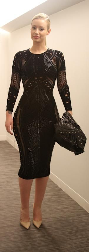 Iggy Azalea's Julien MacDonald Fall 2014 Black Embellished Dress