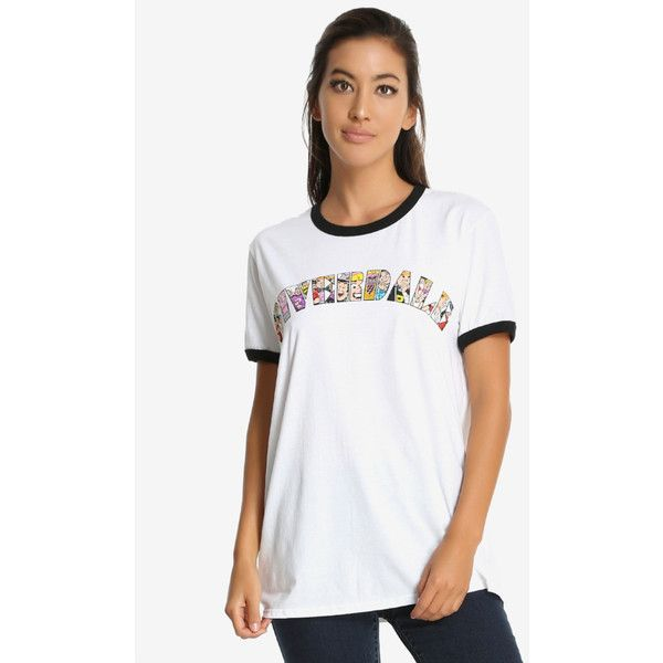 Archie Comics Riverdale Womens Ringer Tee ($20) ❤ liked on Polyvore featuring tops, t-shirts, white tee, cartoon character t shirts, comic book, cartoon tees and comic t shirts