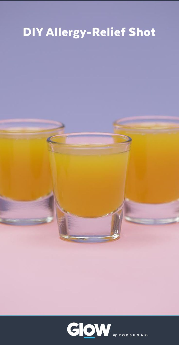 Combat allergy season with this easy DIY allergy-relief shot.