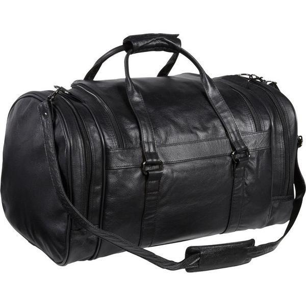 Черная кожа большая спортивная сумка