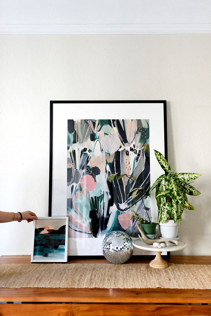 Art pair perfection mintedart shop green abstract wall art prints from our community of independent