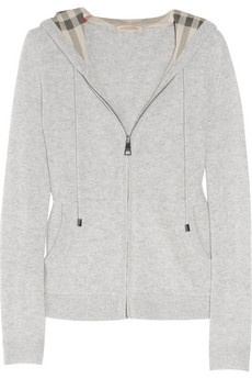 Burberry Brit|Hooded cashmere top|NET-A-PORTER.COM - StyleSays