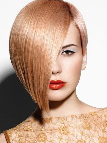 Cutting edge asymmetric Blonde #Hair
