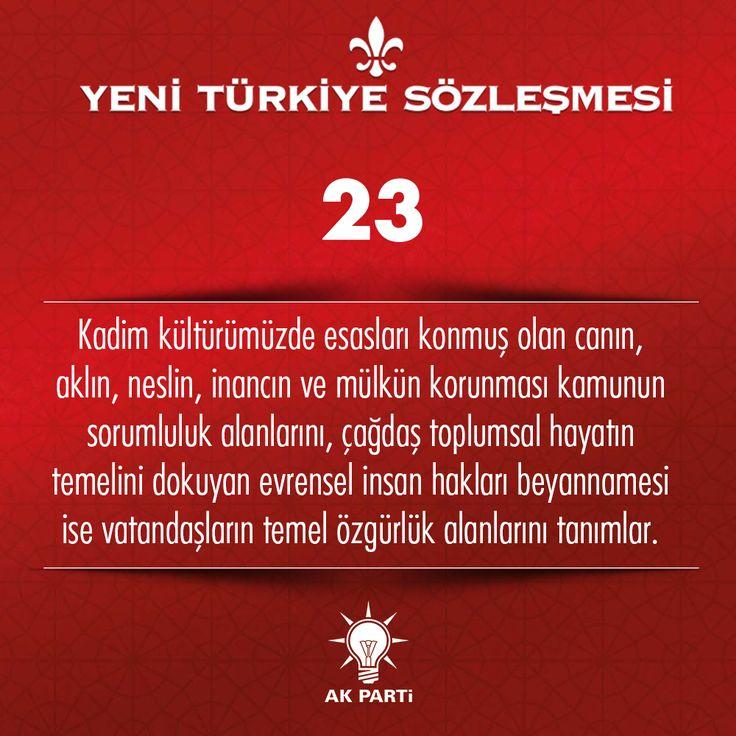 23.Madde, #YeniTürkiyeSözleşmesi
