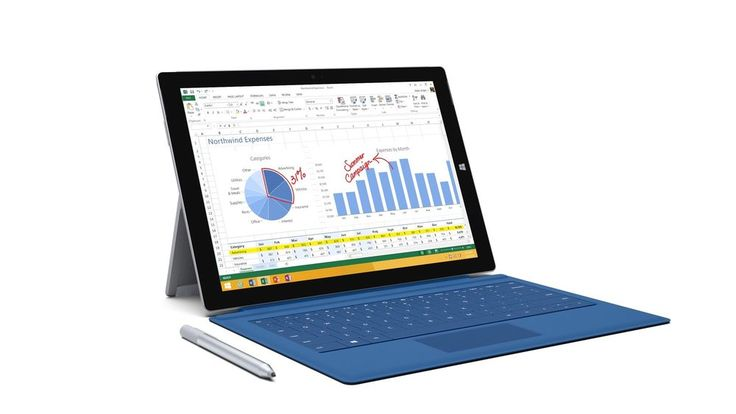 $849 Microsoft Surface Pro 3 128GB Tablet (Refurbished) + Cyan Type Cover Bundle #Microsoft