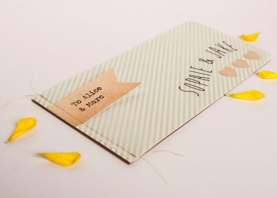 Livret de mariage invitation  rayure cousues par normadorothy, £3.12