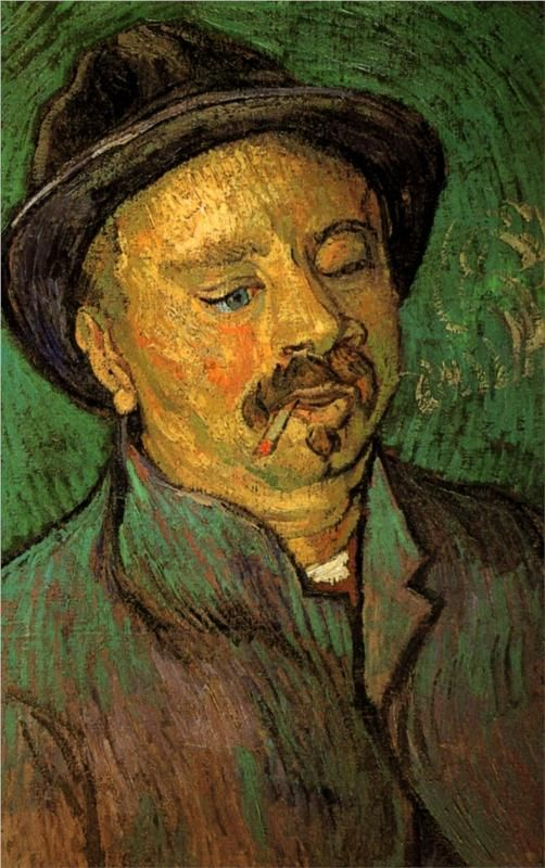 Portrait of  One-Eyed Man, 1888, by Vincent Van Gough (1853 - 1890), Dutch. http://www.wikipaintings.org/en/vincent-van-gogh/portrait-of-a-one-eyed-man-1888#supersized-artistPaintings-206639