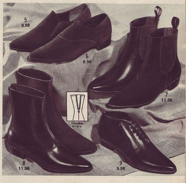 Mod shoes Chelsea boots 1967 by Patrick from Parka Avenue, via Flickr