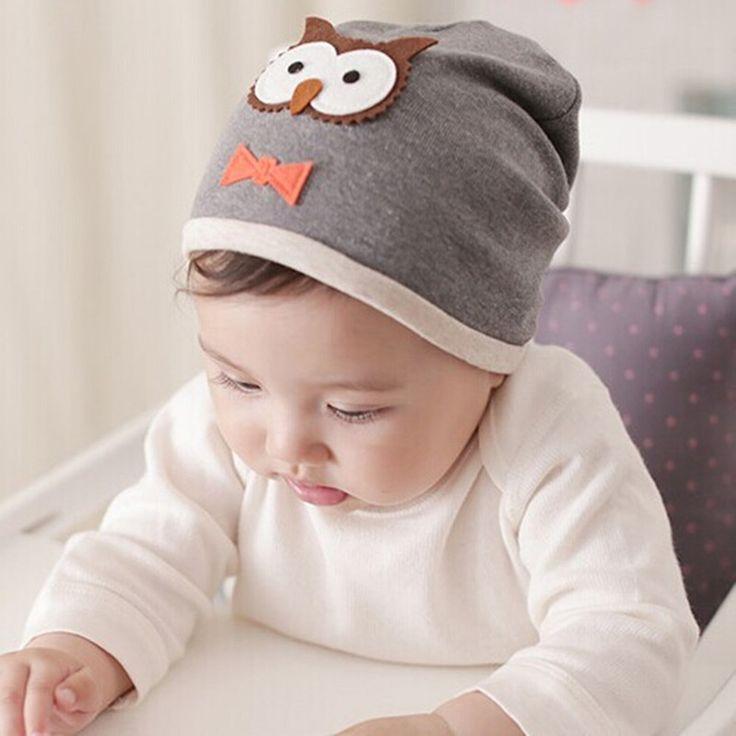 Nuevo bebé niños niñas sombrero de algodón mezcla tapas recién nacido sombrero del bebé del búho de impresión bebé clothing accesorios