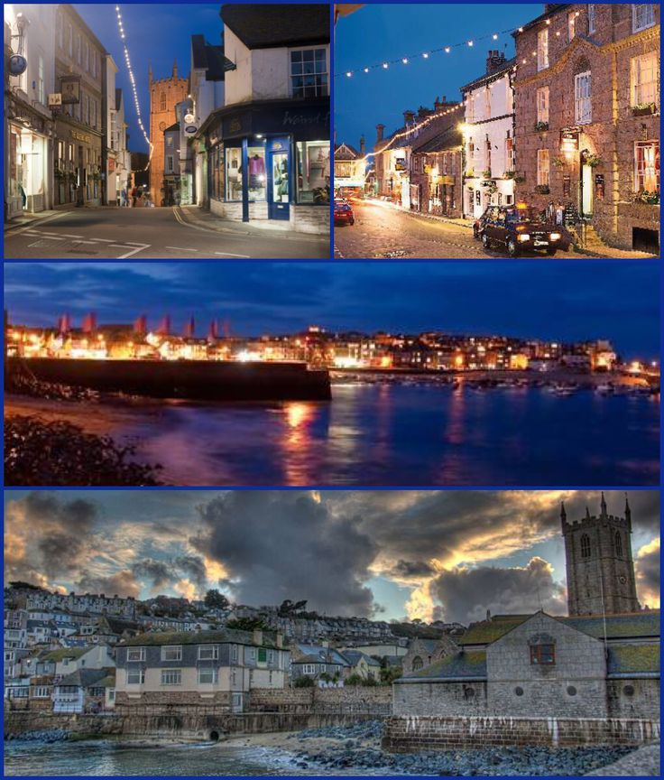 Dusk and Night Images of St Ives Cornwall.