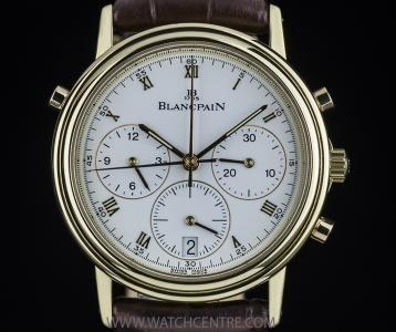 BLANCPAIN 18K Y/G VILLERET SPLIT SECOND CHRONOGRAPH 1185-1418-55  http://www.watchcentre.com/product/blancpain%C2%A018k-y-g-villeret-split-second-chronograph-1185-1418-55/3995