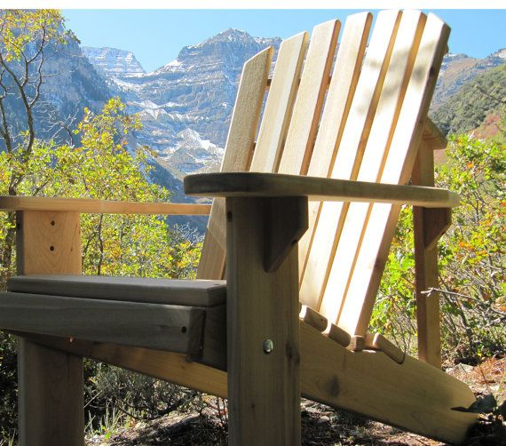 Adirondack chair kit 1 thick western red by gardenfurnituremill, $124.00