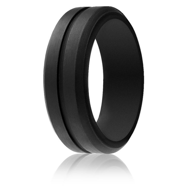 Roq Silicone Wedding Ring For Men Affordable 8mm Rubber