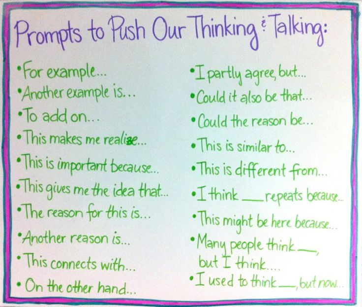 Thinking & Talking Prompts...use for writing or reading response
