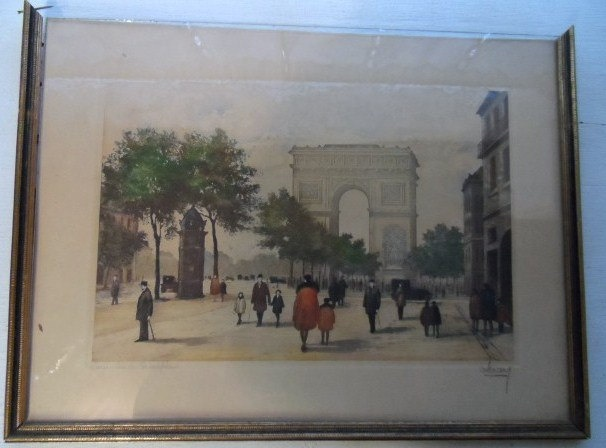 Available now from Orphaned Treasures ~ Jules Leray ORIGINAL ETCHING SIGNED  Paris  Arc de Coriomphe. $60.99, via Etsy.: Originals, Leray Original, Etchings, Paris Arc