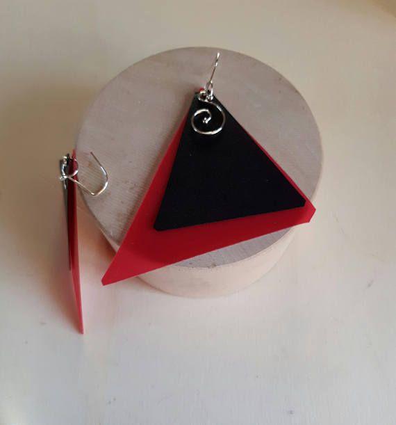 Guarda questo articolo nel mio negozio Etsy https://www.etsy.com/it/listing/553442866/orecchini-geometrici-leboncine-by