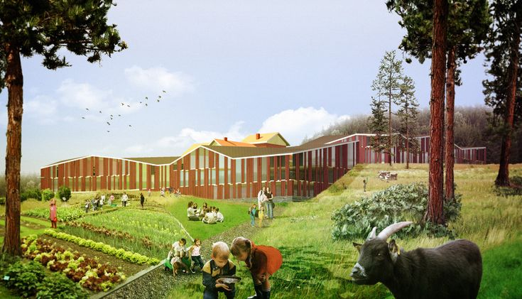 Designed by Hyperbuildings in Hämeenkyrö,Finland Located in a rural setting in central Finland, a few kilometers north of the city of Tampere, the proposal for the Hä...