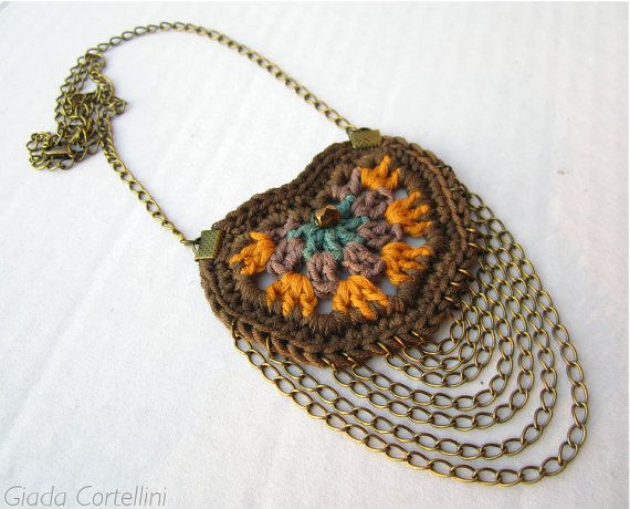 Ethnic tribal Native American necklace by GiadaCortellini on Etsy, €28.00