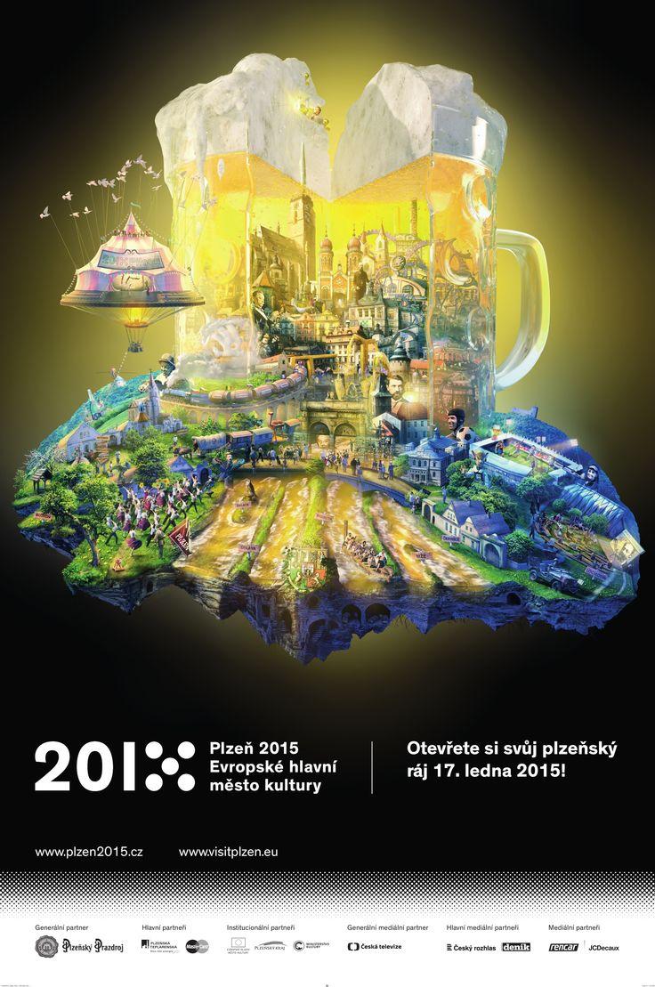 """PILSEN 2015 (Czech Republic) - Advert for the opening ceremony - """"Open your pilsen paradise. Save the date 17. 1. 2015""""  #plzen2015 #plzen"""