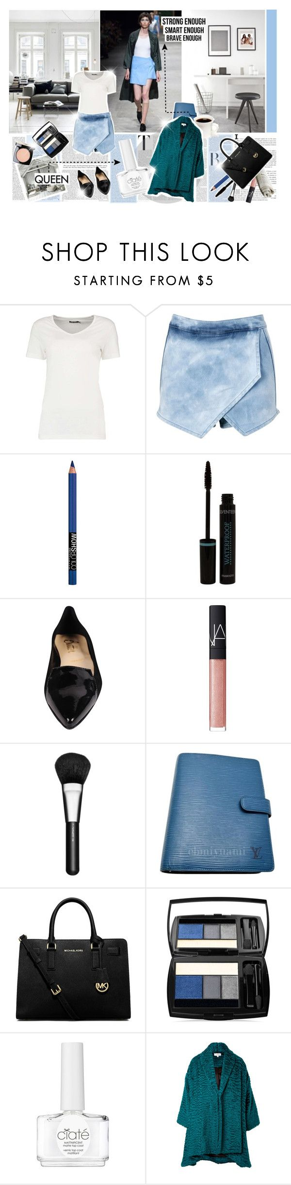 """All the women who are independent, throw your hands up at me"" by mrsochrasy ❤ liked on Polyvore featuring Arthur Arbesser, Oris, Boohoo, Maybelline, Butter Shoes, NARS Cosmetics, MAC Cosmetics, Louis Vuitton, MICHAEL Michael Kors and Lancôme"