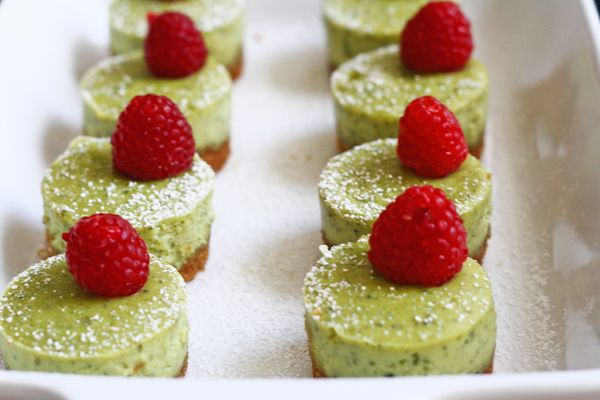 Green Tea Cheesecake with a Coconut-Graham Cracker Crust - Brings back fond memories of coveted treats at the New York Japanese bakery of my younger years...