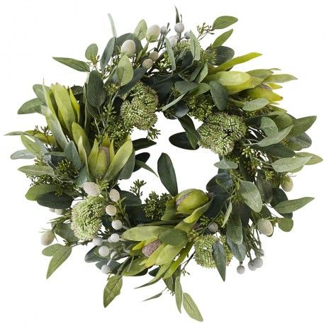 43cm Green Australian Flora Mix Wreath