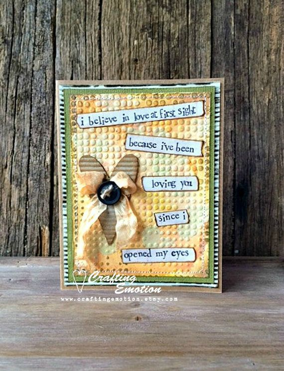 Handmade Mother's Day Card Unique Card OOAK by Crafting Emotion $12.00AUD