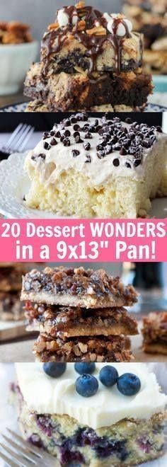 """20 Dessert Wonders M 20 Dessert Wonders Made in a 9x13""""...  20 Dessert Wonders M 20 Dessert Wonders Made in a 9x13"""" Pan! Recipe : http://ift.tt/1hGiZgA And @ItsNutella  http://ift.tt/2v8iUYW"""
