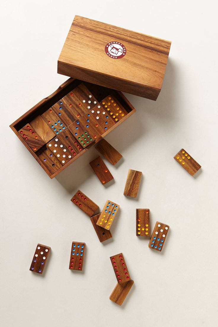 hand painted domino set