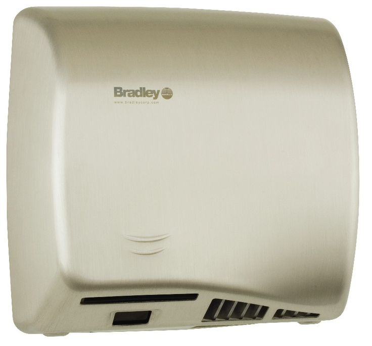 BRADLEY BX  HAND DRYER  SURFACE MOUNT  SENSOR OPERATED  ADJUSTABLE WARM  AIR  STAINESS STEEL SATIN FINISH  ADA  WITH INTEGRAL NOZZLE  AERIX HAND  DRYER SECOND. 17 Best images about Commercial Bathroom Accessories on Pinterest