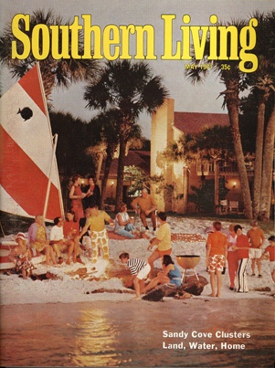 May 1971 | Sandy Cove Clusters Land, Water, Home: Southern Living, Living Magazines, Cluster Land, Cove Cluster, Living Covers, Vintage Southern, Sandy Cove, Random Inspiration, Magazines Covers