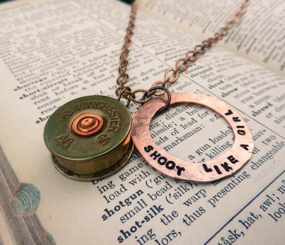 Shot gun shell necklace, love it!