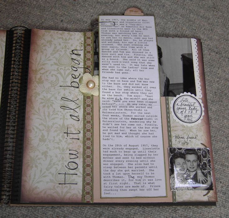 50th Wedding Anniversary Pg 3 Journaling Scrapbook Com