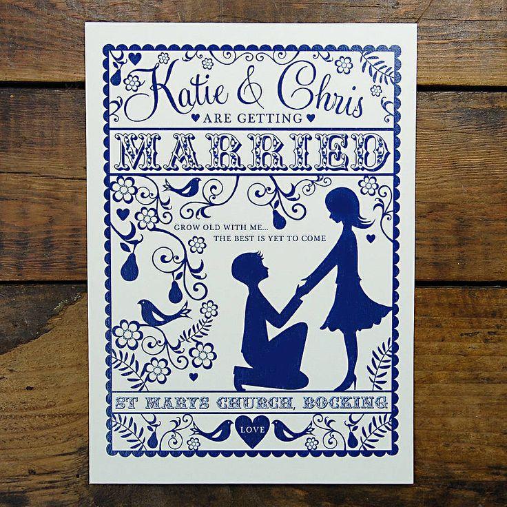 folk love wedding invitation by ditsy chic | notonthehighstreet.com