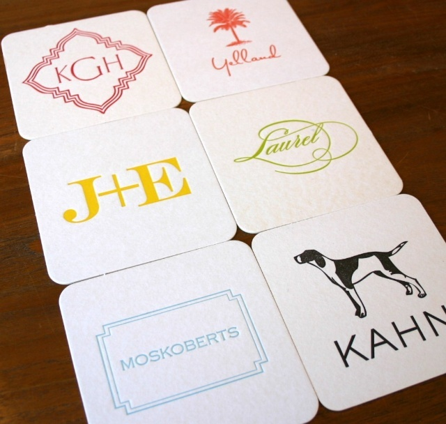 Letterpress Coasters from Haute Paper