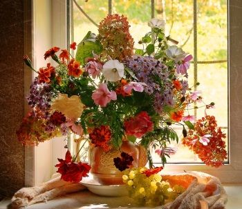 ~*FLOWERS IN WINDOWS*~ Artwork Challenge, March 2015 - Welcome to OrangeArts Gallery