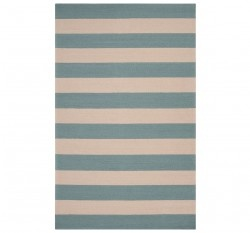 Draper Stripe Azure Outdoor Rug