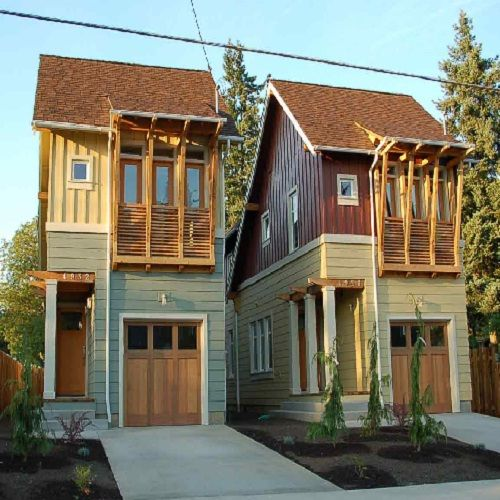 the principle of narrow house plans is building a house with a plan that rises up - Two Story Tiny House