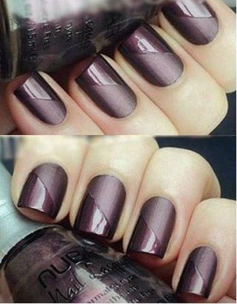 Pretty Glossy and Matte Nail Design