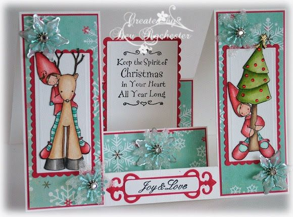 I have made a side step card as well as what I use to make my snowflake embellishments for the Whiff of Joy Tutorials and Inspirations blog ...