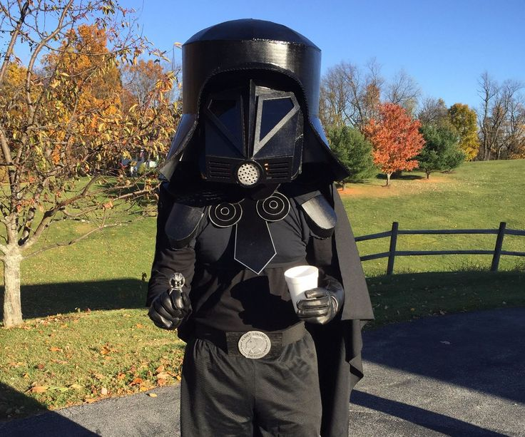 Homemade Spaceballs Dark Helmet costume.  Yes, I just geeked out here.