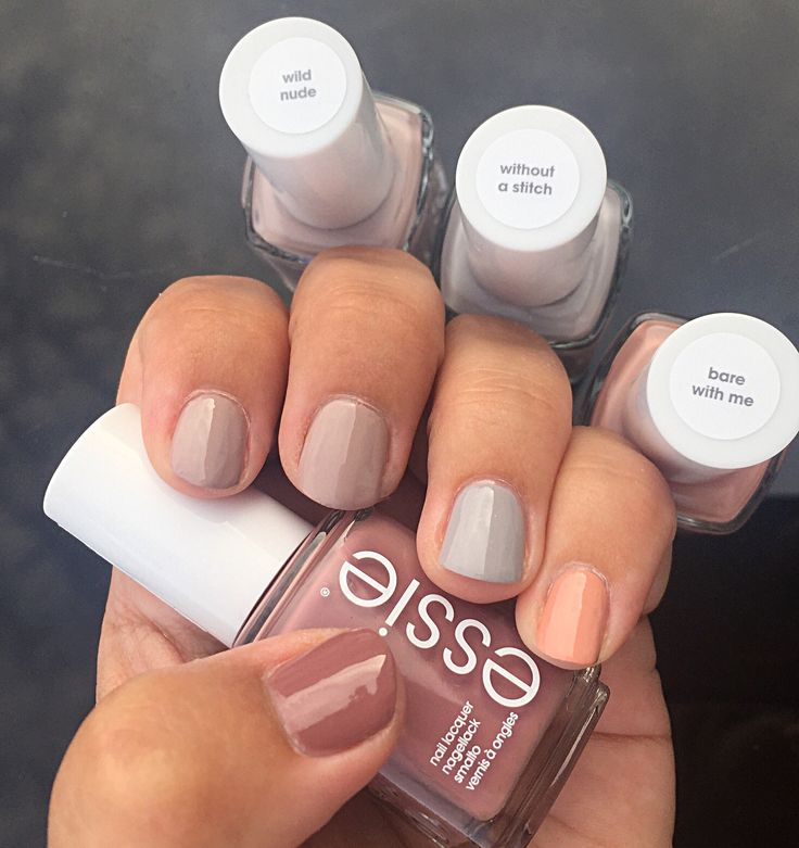 Wild Nude collection: I used 'Clothing Optional' for my thumb, 'Wild Nude' for index and middle, 'Without a Stitch' on my ring finger and last but not least 'Bare With Me' on my pinky. #wildnudecollection #clothingoptional #wildnude #withoutastitch #barewithme #essie #essiepolish #essielove #essiecolor #essiefan #essieholic #obsessie #danishnailpolishblogger #loveessie #iampolishedup #polishedup #iloveessie #iheartessie #nailpolish #nailart #notd #polishaholic #nailblog #nailblog