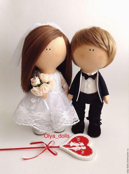 Wedding dolls / Куклы тыквоголовки ручной работы. Ярмарка Мастеров - ручная работа. Купить свадебная пара. Handmade. Комбинированный, кукла в подарок, тыквоголовка