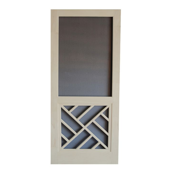 Screen Tight Chippendale Lyndhurst Timber Wood Screen Door (Common: 32-in x 80-in; Actual: 32-in x 80-in)