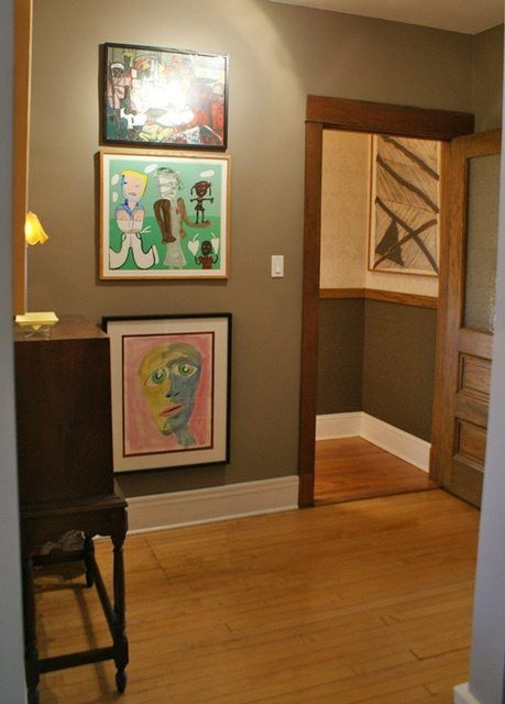 Stained Trim and Painted Baseboards