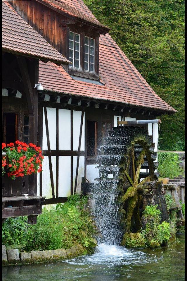 Watermill in Blaubeuren, Germany
